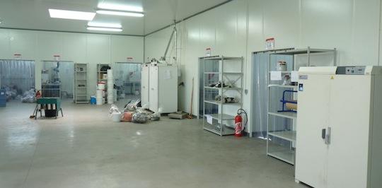 Les salles de réception des solides dans les ateliers Socor, photo Frérédic Douard