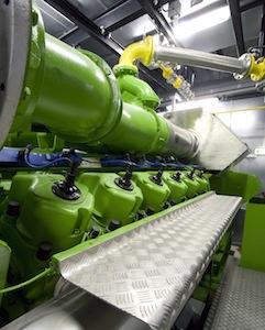 Moteur à biogaz Jenbacher, photo Chevron Lubrifiants