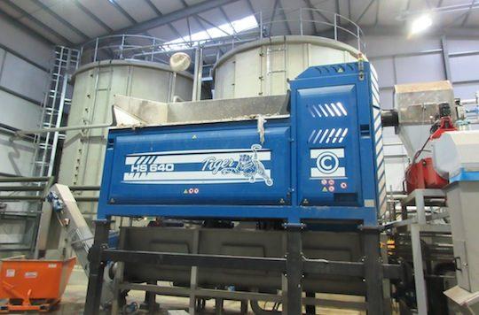 Pré-déconditionnement de biodéchets chez Willen Biogas à Londres, photo Xergi