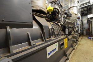 Le moteur de cogénération MWM de 500 kWé à Montans, photo Frédéric Douard