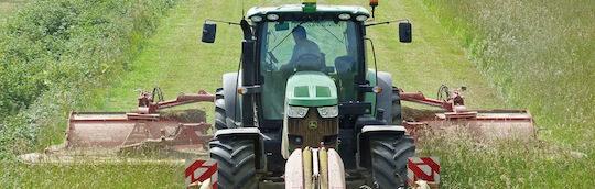 La récolte d'herbe pour la méthanisation, photo Groupe Agri