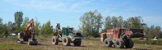 Les équipements d'exploitation forestière d'Agri 2000, photo Groupe Agri