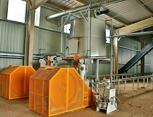 Les presses à briquettes Di Piu, photo Groupe Agri