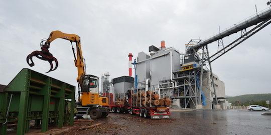 La centrale biomasse Sylvania à Brignoles dans le Var, 20 MWé, a été mise en service en janvier 2016, photo Frédéric Douard