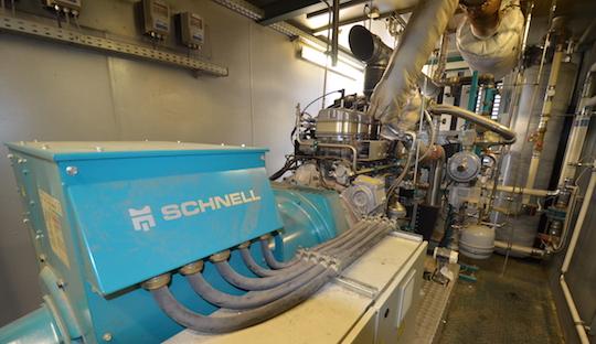 La génératrice Schnell de 160 kWé, photo Frédéric Douard