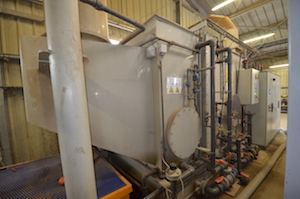 Le laveur des vapeurs de séchage avant rejet dans l'atmosphère, photo Frédéric Douard