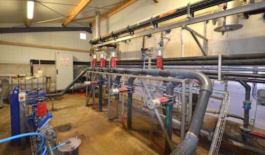 Local de gestion des liquides et de l'aspersion, photo Frédéric Douard
