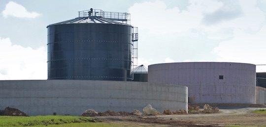 Panorama sur l'unité de méthanisation de la SCEA Baie des Champs, photo France Biogaz