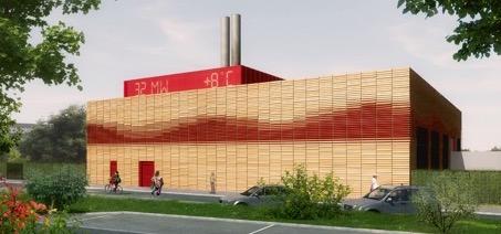 Chaufferie de Caen-Sud, des afficheurs LED indiquent la température extérieure et la puissance fournie, crédit Agence Schneider