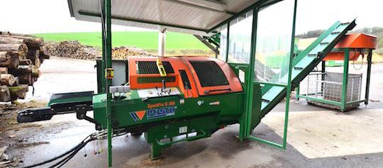 Le combiné bois-buche mobile Posch SpaltFix S-360, photo Frédéric Douard