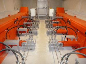 Les extracteurs hydrauliques WEISS des deux silos à bois, photo Weiss