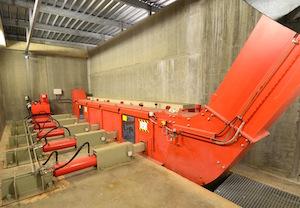 Système d'extraction hydraulique et de convoyage du combustible Weiss, photo Frédéric Douard