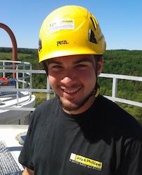 Antoine Rivron, le chef du chantier Brenil Pellet chez Joly & Philippe, photo J&P