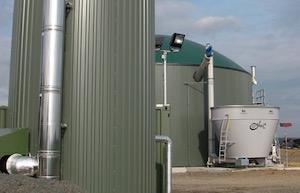 Installation de méthanisation agricole, photo ADEME