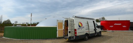 Intervention de GR Energie sur le site de Fertiwatt, photo Frédéric Douard
