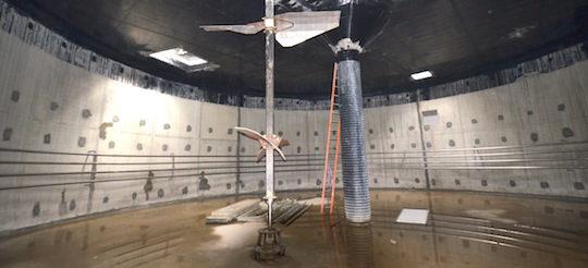 L'intérieur du digesteur durant la phase de construction, photo Frédéric Douard