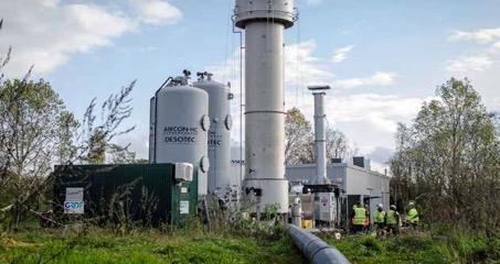 La torchère de l'ISDND de Saint-FLorentin a été mise hors service et remplacée par une Wagabox, photo Waga Energy