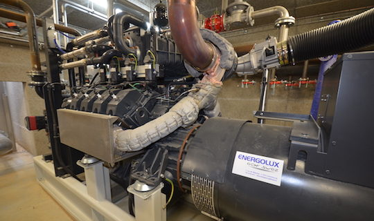 Le moteur de cogénération Liebherr, photo Frédéric Douard