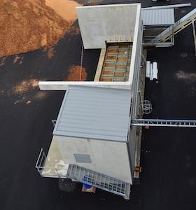 Le silo à combustible installé par Joly & Philippe, photo Frédéric Douard