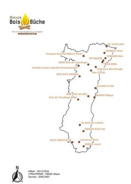 Les adhérents d'Alsace Bois Bûches
