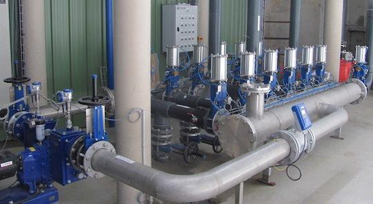 Pompe centrale Fertiwatt et ses réseau de distribution, photo GR Energies
