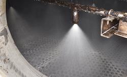 Test de lavage dans l'électrofiltre EWK, photo Frédéric Douard