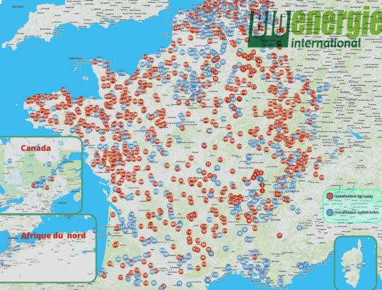 Atlas 2017 Bioénergie International des sites de production et valorisation de biogaz