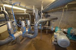 La salle de pompage est le noeud névralgique de l'installation biologique, photo Frédéric Douard