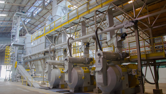 Ligne de granulation à l'usine GPS en Malaysie, photo Prodesa