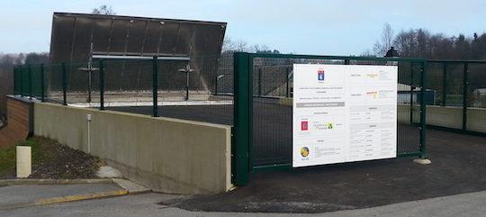 Accès au silo de la chaufferie d'Eteignières, photo ALE 08