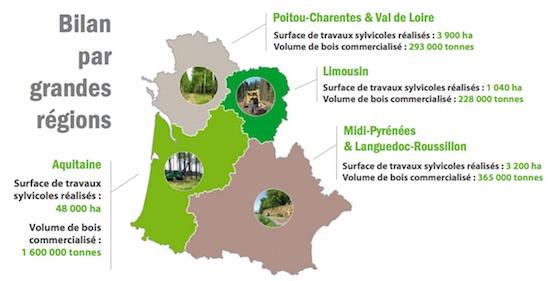Alliance Forêts Bois Carte