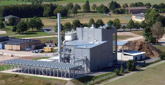 Centrale de cogénération biomasse de Bad Arolsen en Allemagne, photo Valmet
