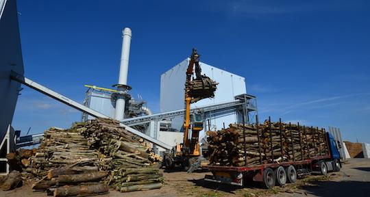 La centrale biomasse de Nesle dans la Somme, photo Frédéric Douard