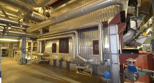 La chaudière de 83 MW CNIM de Kogeban, photo Frédéric Douard