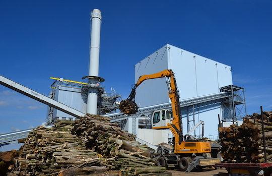 La plateforme biomasse Akuo Energy sur le site de la centrale de Nesle, photo Frédéric Douard