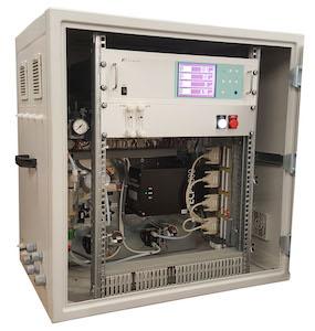 Le coffret d'analyse de biogaz avec écran ZPSB, photo FE