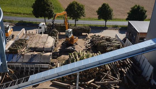 Le poste de déchiquetage VECOPLAN à la plateforme biomasse de Nesle, photo Frédéric Douard