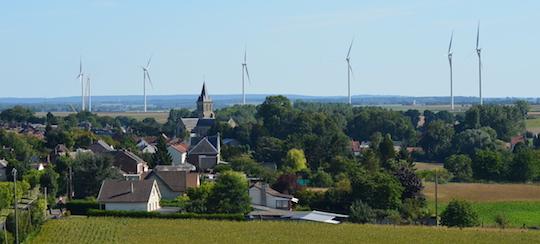 Le village de Nesle héberge un pôle agro-industriel mais aussi une production importante d'énergie renouvelable, photo Frédéric Douard