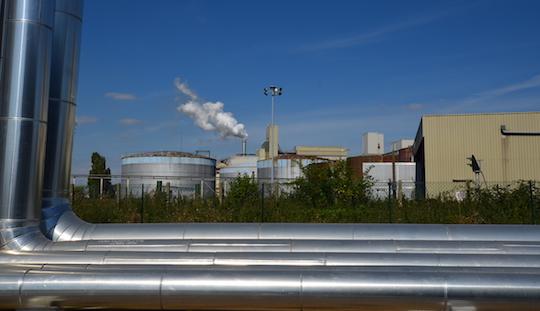 Les sites de centrales biomasse Akuo ont été choisis de par la présence de puits de chaleur importants, ici à Nesle, photo Frédéric Douard