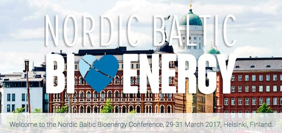 Nordic Baltic Bioenergy Conference, 29-31 March 2017