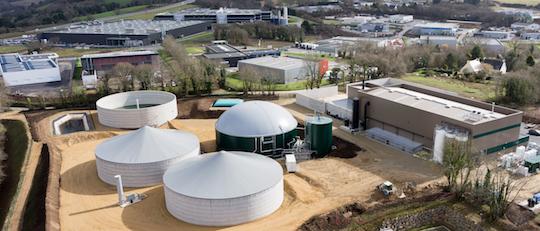 La centrale biométhane de Quimper, photo Pascal Léopold