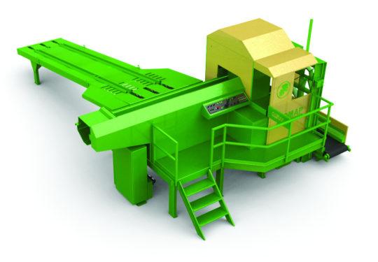 Autre vue du combiné à bois de chauffage scieur / fendeur COMAP- Evolution SD 120. Capacité de coupe : 50 cm de diamètre