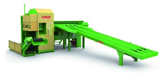 Scieur fendeur COMAP SD120 à deux opérateurs, capacité de coupe jusqu'à 50 cm