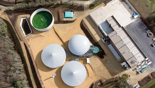 Vue aérienne de la centrale biométhane de Quimper, photo Pascal Léopold