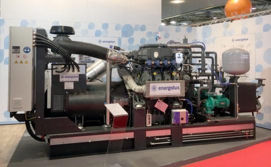 Module ENL G9508 BG330. Il s'agit d'un cogénérateur au biogaz sur base d'un moteur LIEBHERR à 8 cylindres avec intercooler et 330 kW de puissance électrique.