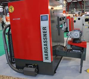 L'EcoHK 250-330kW sur le stand Hargassner à Limoges, photo HF