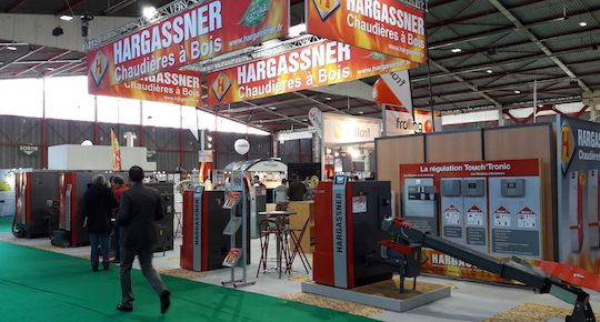 Le stand Hargassner sur le salon Bois Energie 2017 à Limoges, photo HF