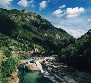 Le Val Verzasca dans le Tessin, photo Lavertezzo