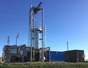 Les équipements de purification de Meaux Biogaz, photo HZI BioMethan