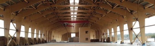 Nouveau hangar de stockage de miscanthus de l'entreprise Lamont-Colin Energies, photo Lamont-Colin Energies